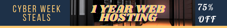 75% Off 1 Year All Hosting Plans
