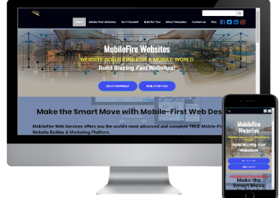 Example site Built with the MobileFire Mobile First Website Builder